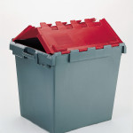 POLYPROPYLENE GREEN AND RED BIN