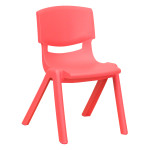 POLYPROPYLENE RED/PINK SCHOOL CHAIR