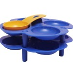 POLYPROPYLENE TRAY BLUE AND YELLOW
