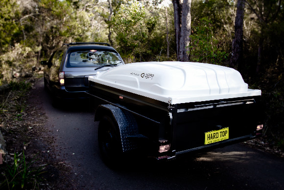 hard top trailer available in 6x4 and 7x4