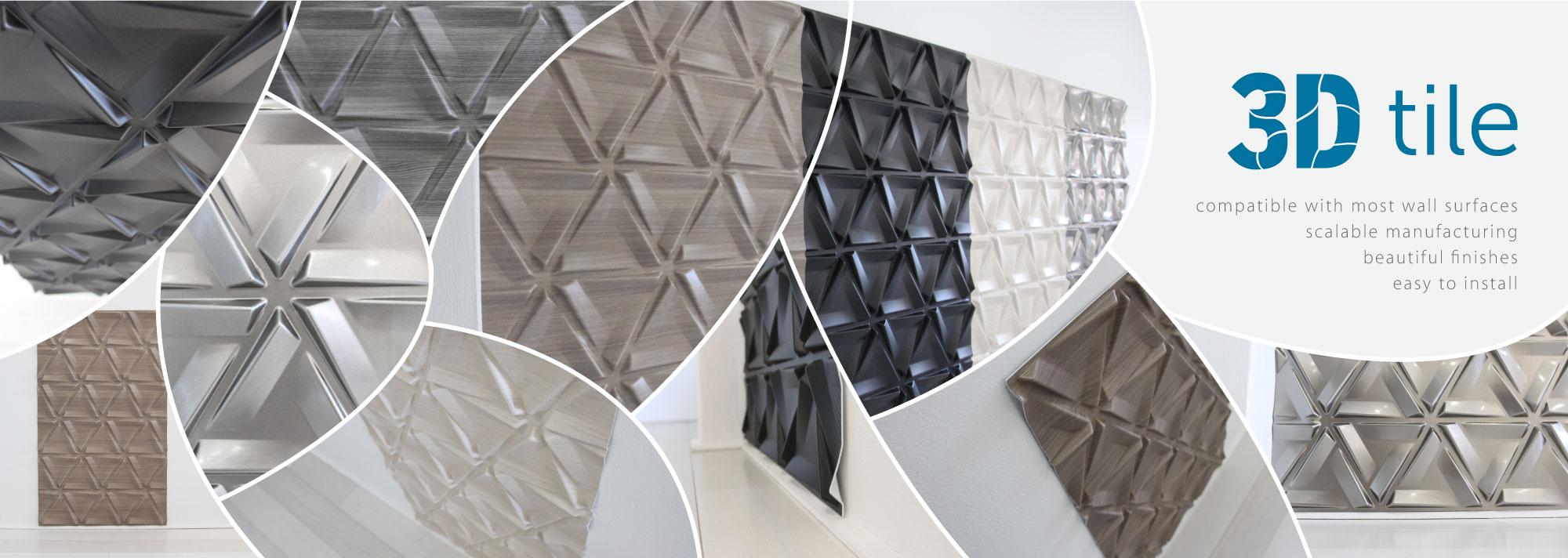3D Plastic Wall Tile