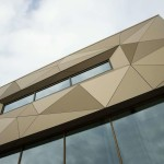 High Pressure Laminate outdoor panels in gold