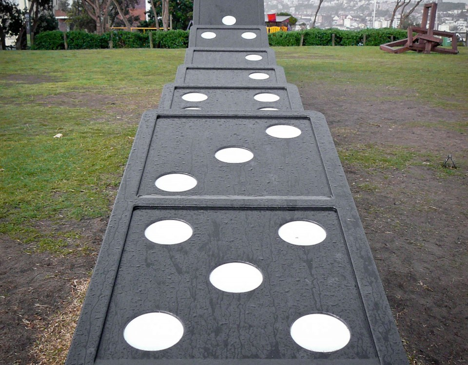 novelty sized dominoes for sculptures by the sea