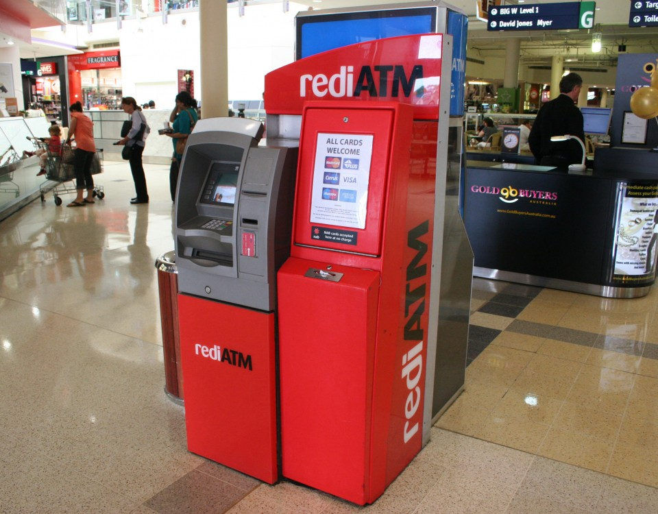 redi atm plastic components at mall